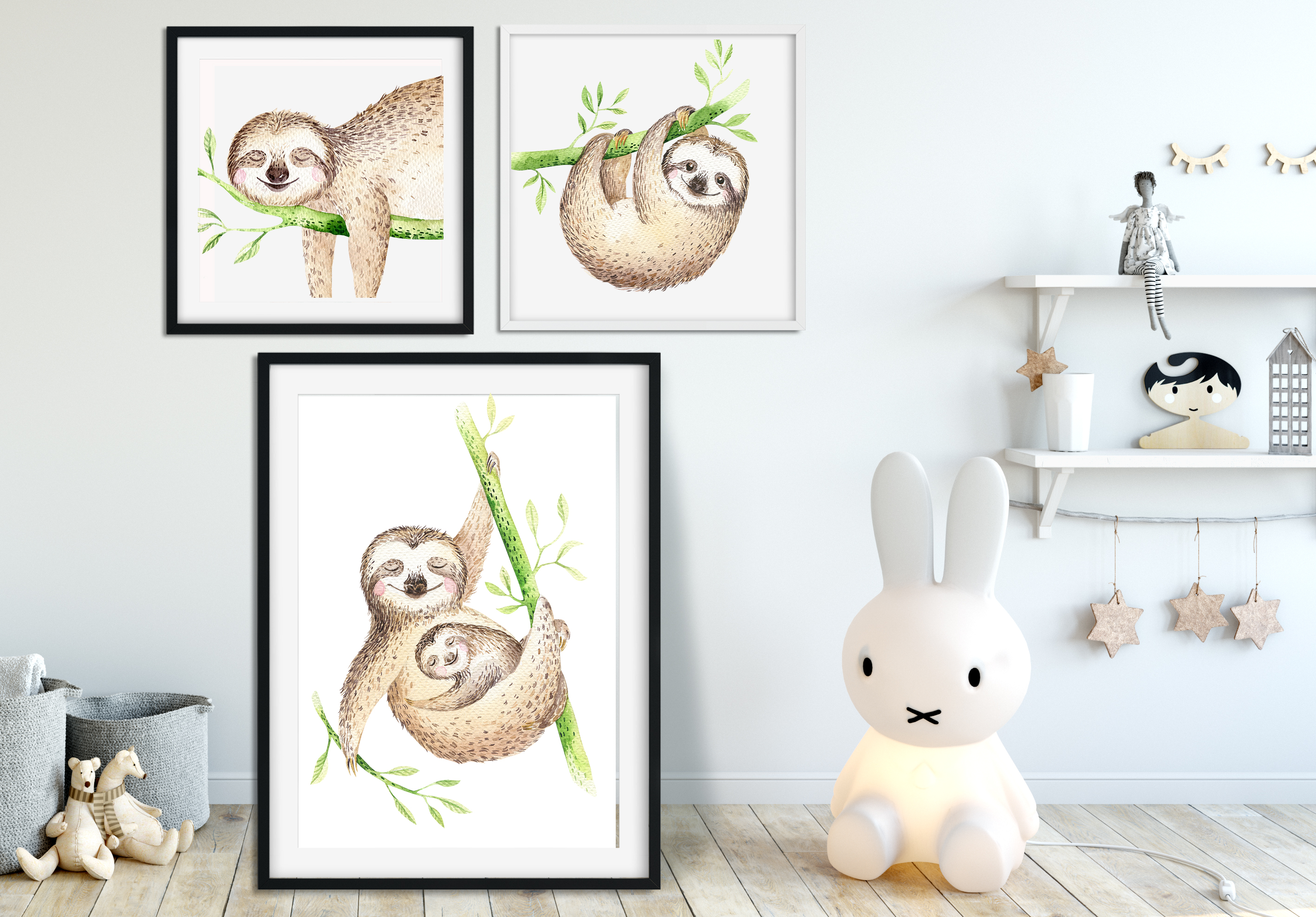 Tropical party III.Sloth collection example image 5