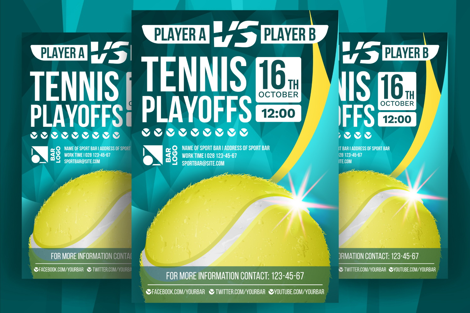 Tennis Poster Vector example image 1