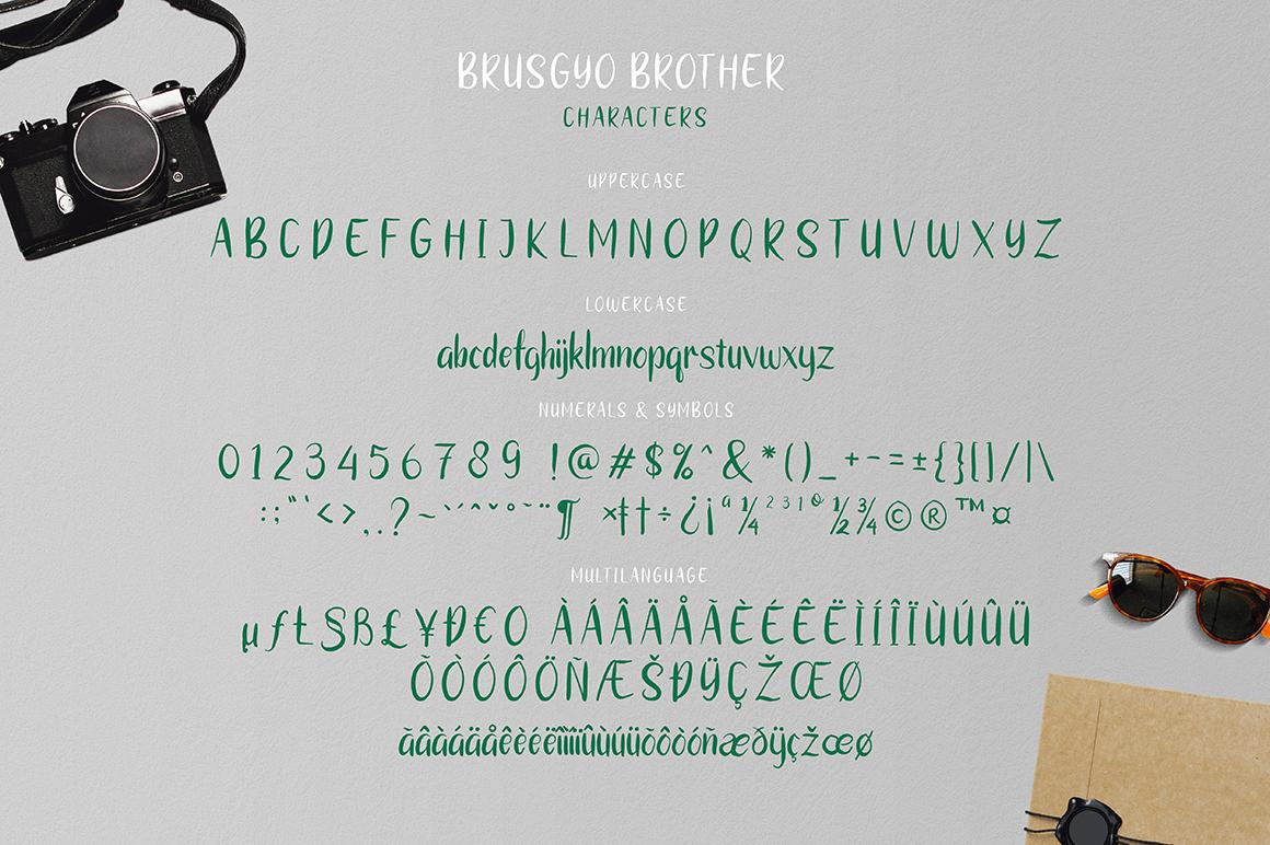 brushgyo typeface example image 5