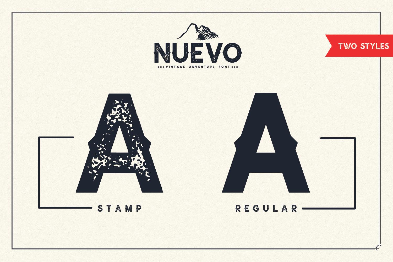 Nuevo - Vintage Adventure Font example image 4