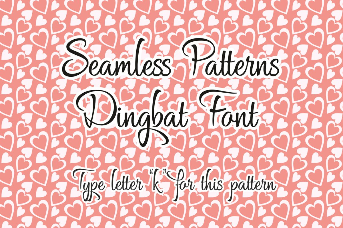 Seamless Pattern Dingbat Font example image 3