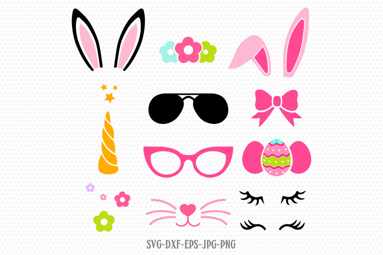 easter unicorn bunny design kit svg example image 1