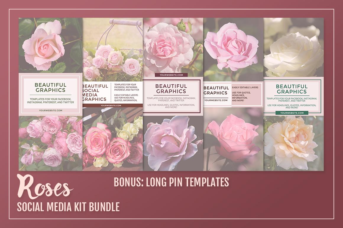 Roses Social Media Kit Bundle example image 2
