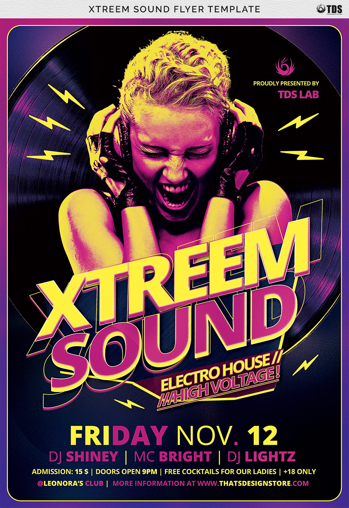 Xtreem Sound Flyer Template example image 7