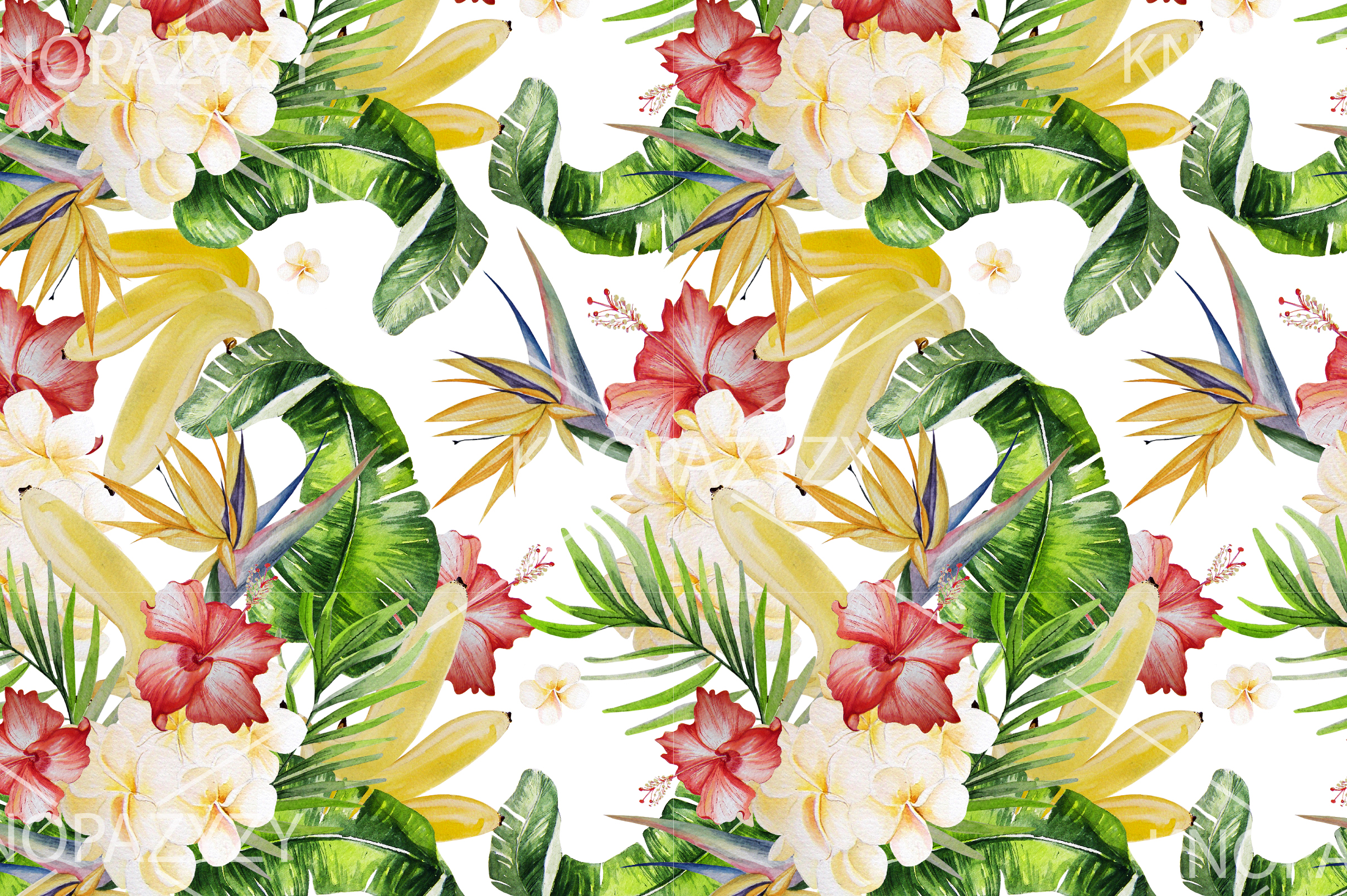 16 Hand Drawn Watercolor Pattern example image 9