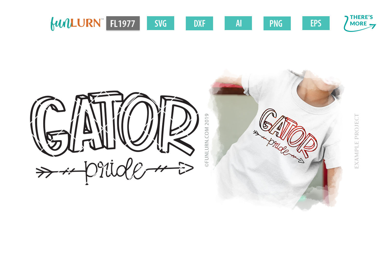 Gator Pride Team SVG Cut File example image 1