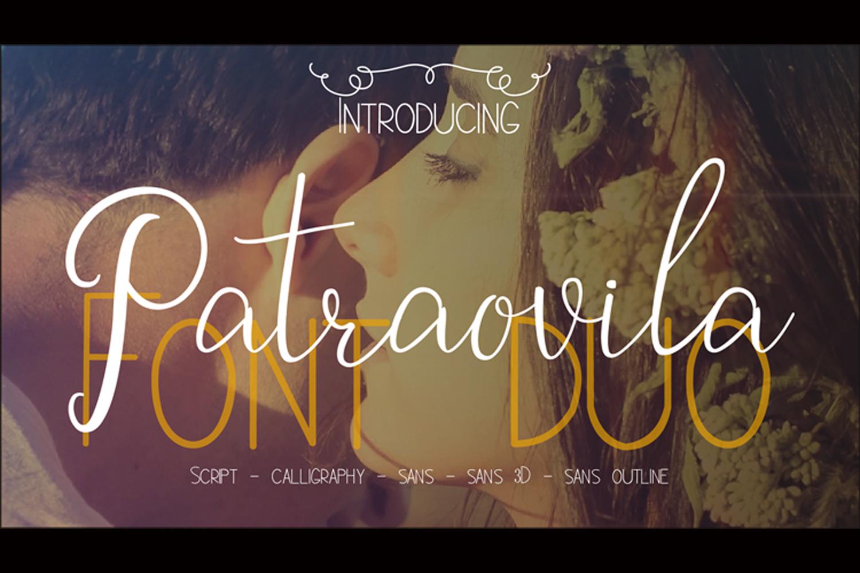 Patraovila font Duo example image 1