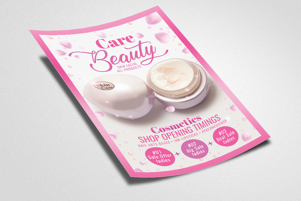 Beauty Skin Care Product Flyer Template example image 2