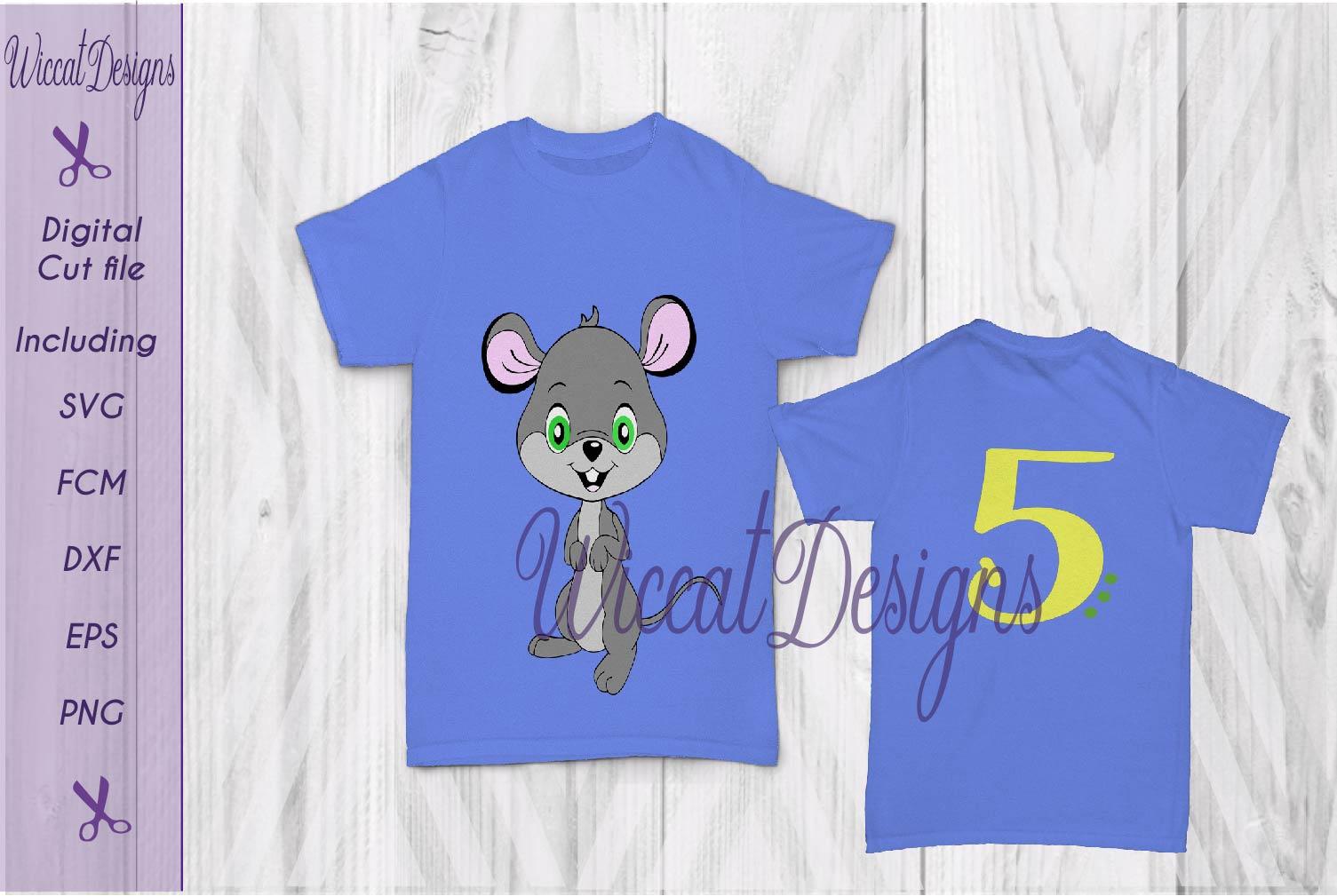 Mouse svg, Birthday svg, boy svg, Boy mouse svg, critter svg  example image 2