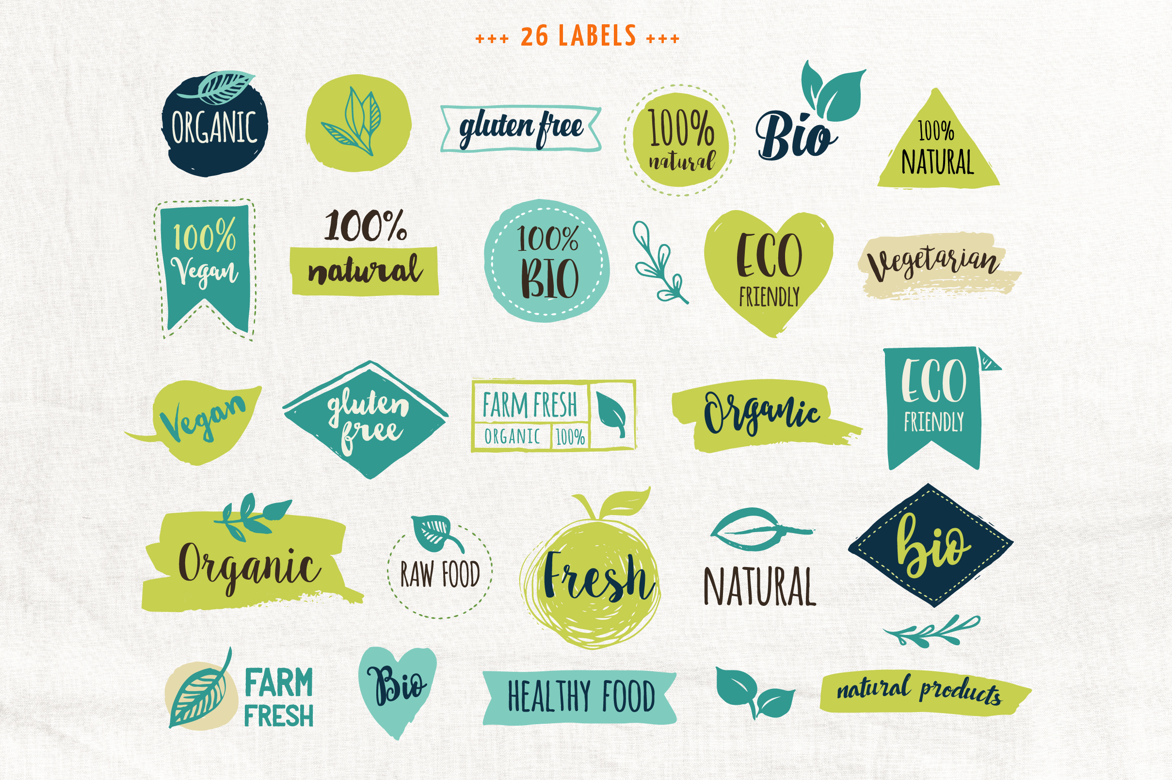 Bio, Organic, Natural & Vegan labels example image 2