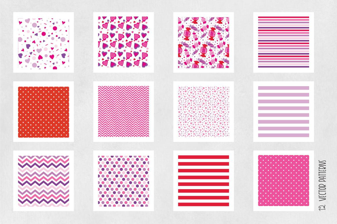 sweet-valentines digital papers example image 4
