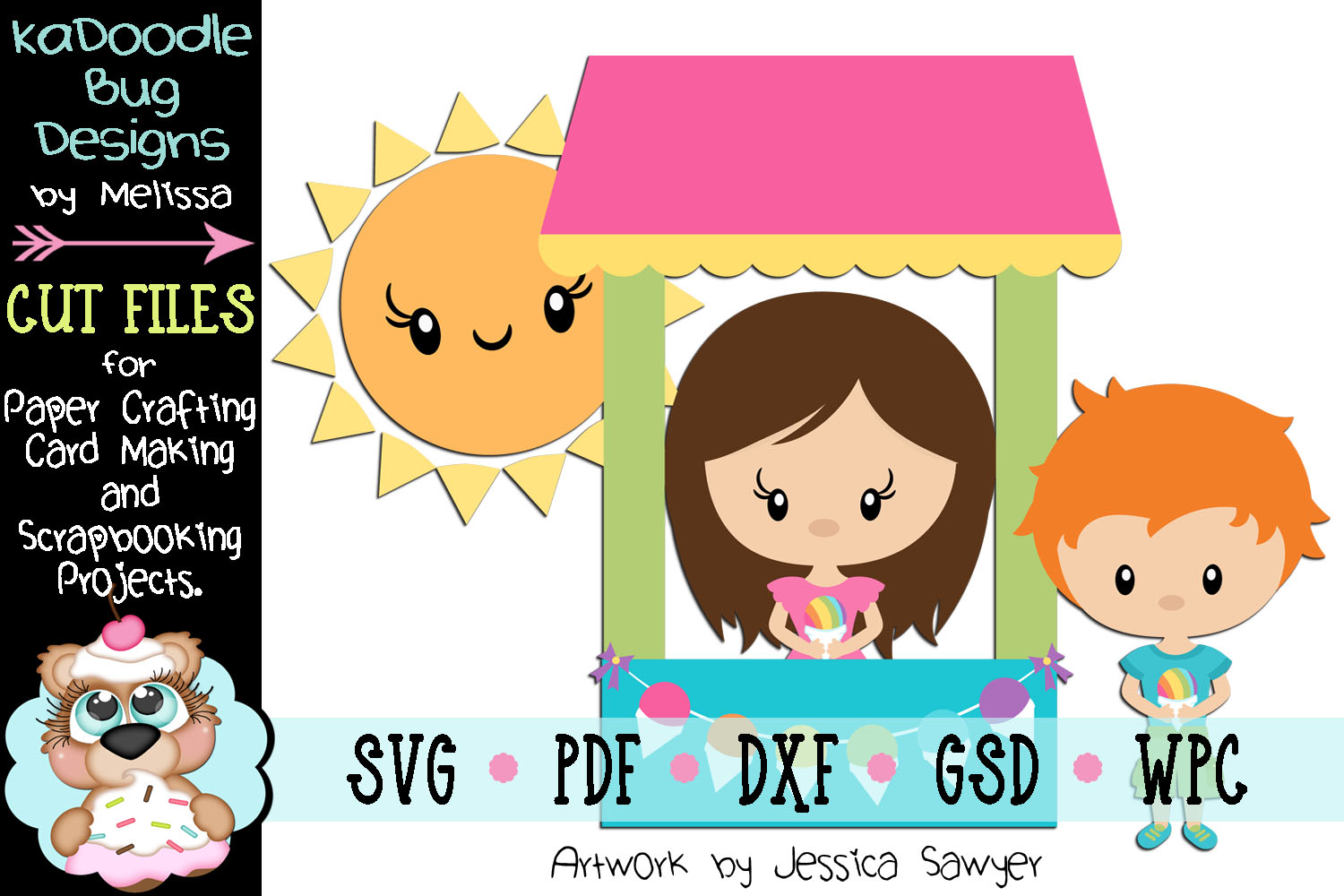 Snowcone Stand Cut File - SVG PDF DXF GSD WPC example image 1