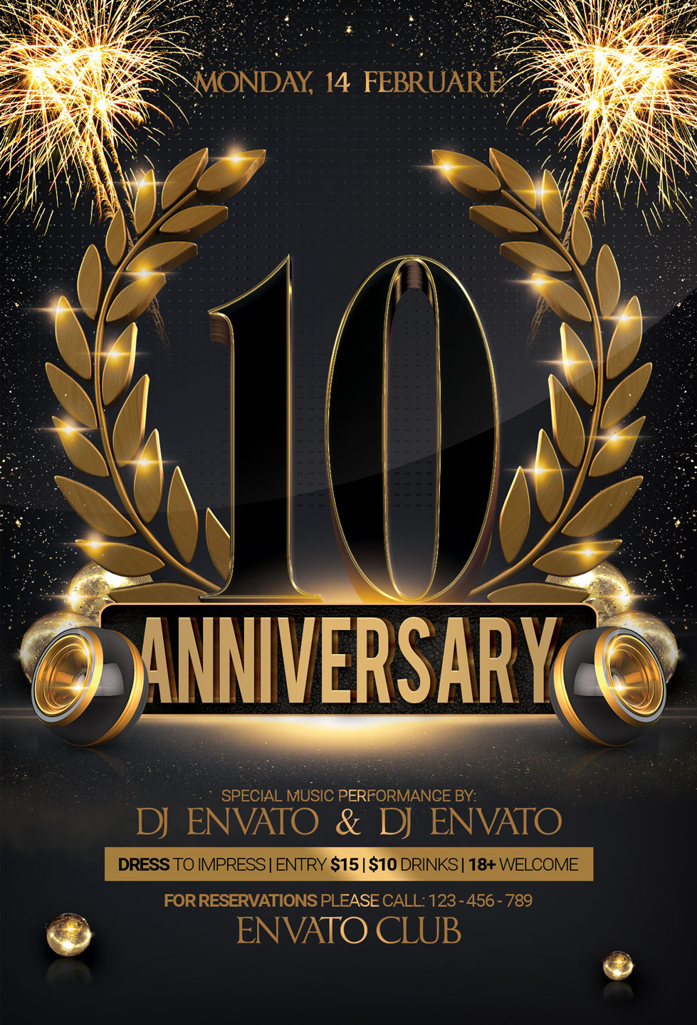 Anniversary Party Flyer example image 3