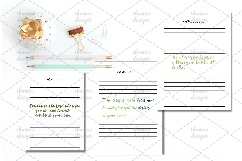 Bible study journal printable example image 2