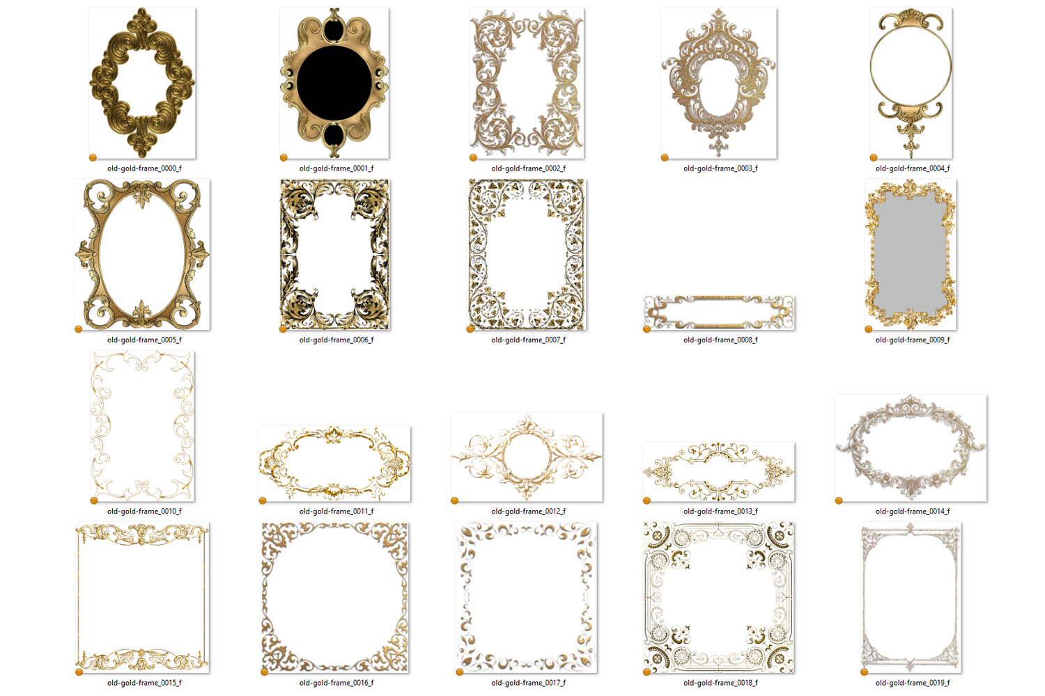 Old Gold Frames Clipart example image 3