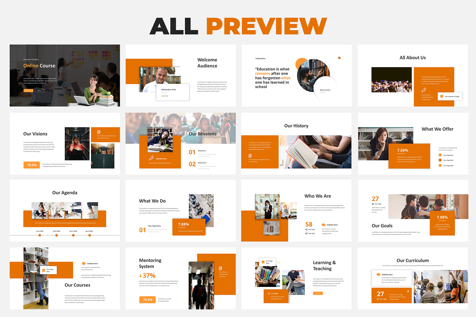 Online Course Powerpoint Template example image 5