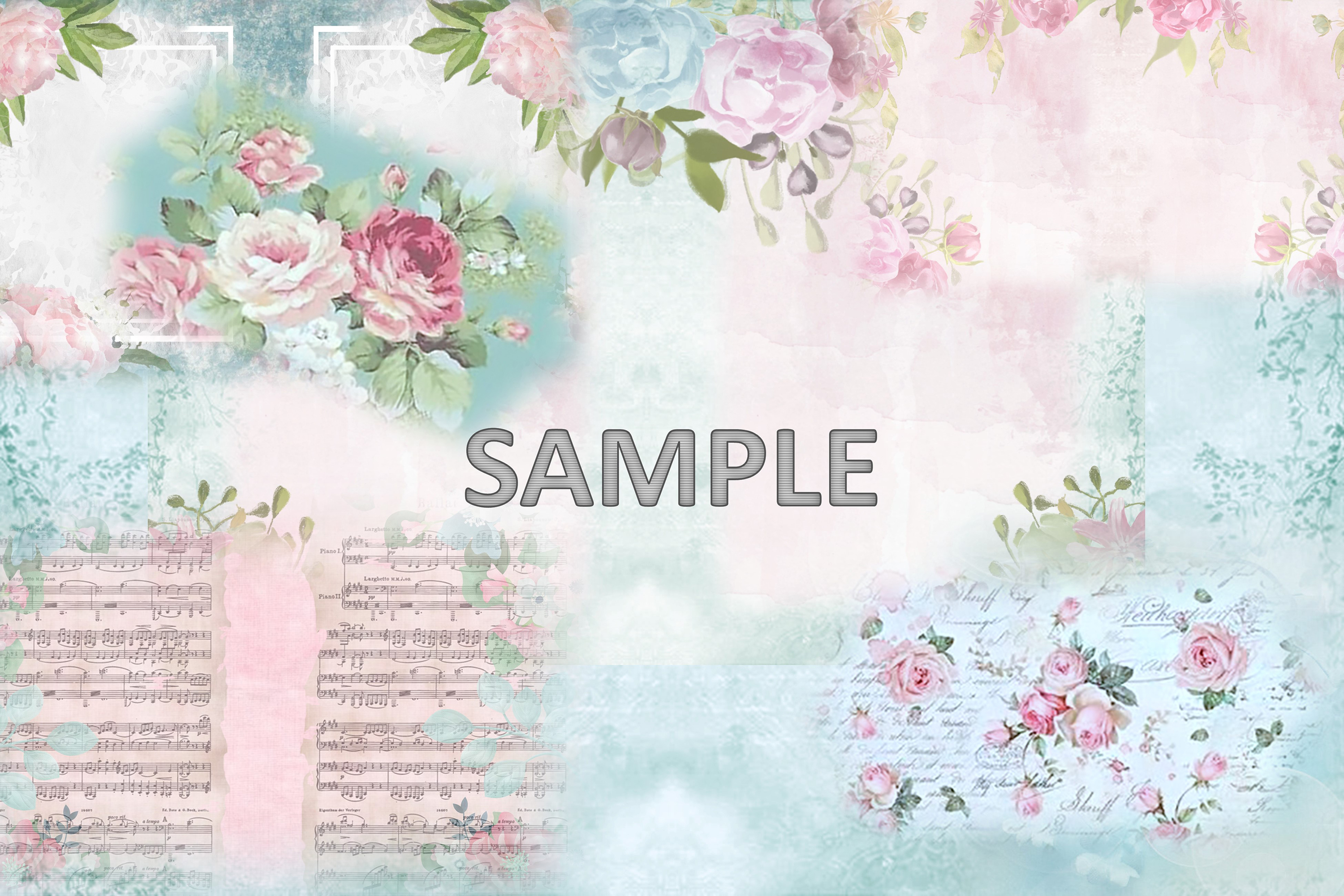 6 Shabby Chic Vintage Printable backgrounds PDF example image 3