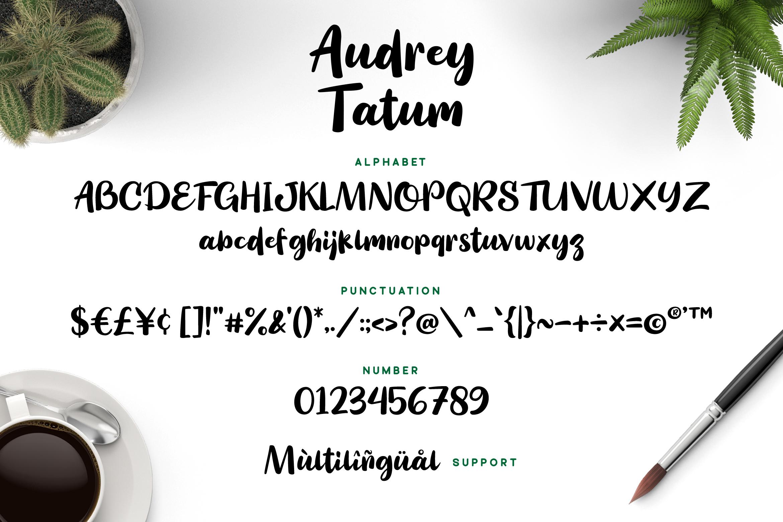 Audrey Tatum Font example image 6