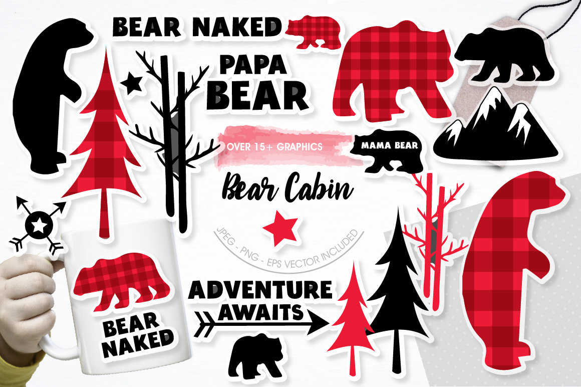 Bear Cabin graphics and illustrations example image 1