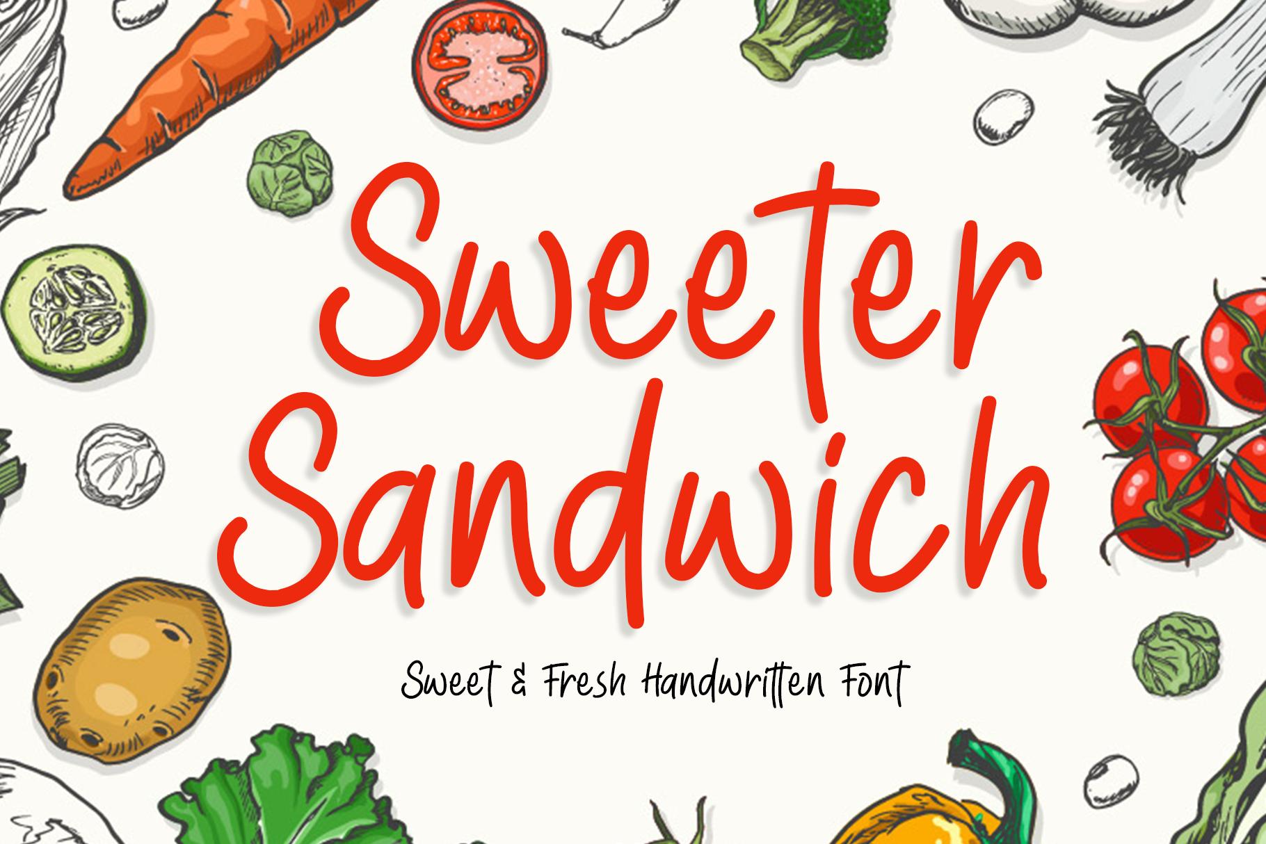 Sweeter Sandwich Handwritten Font example image 1