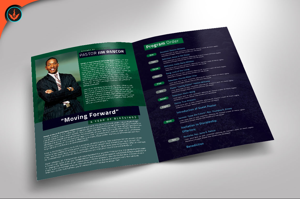Modern Pastors Appreciation Program Photoshop Template example image 2