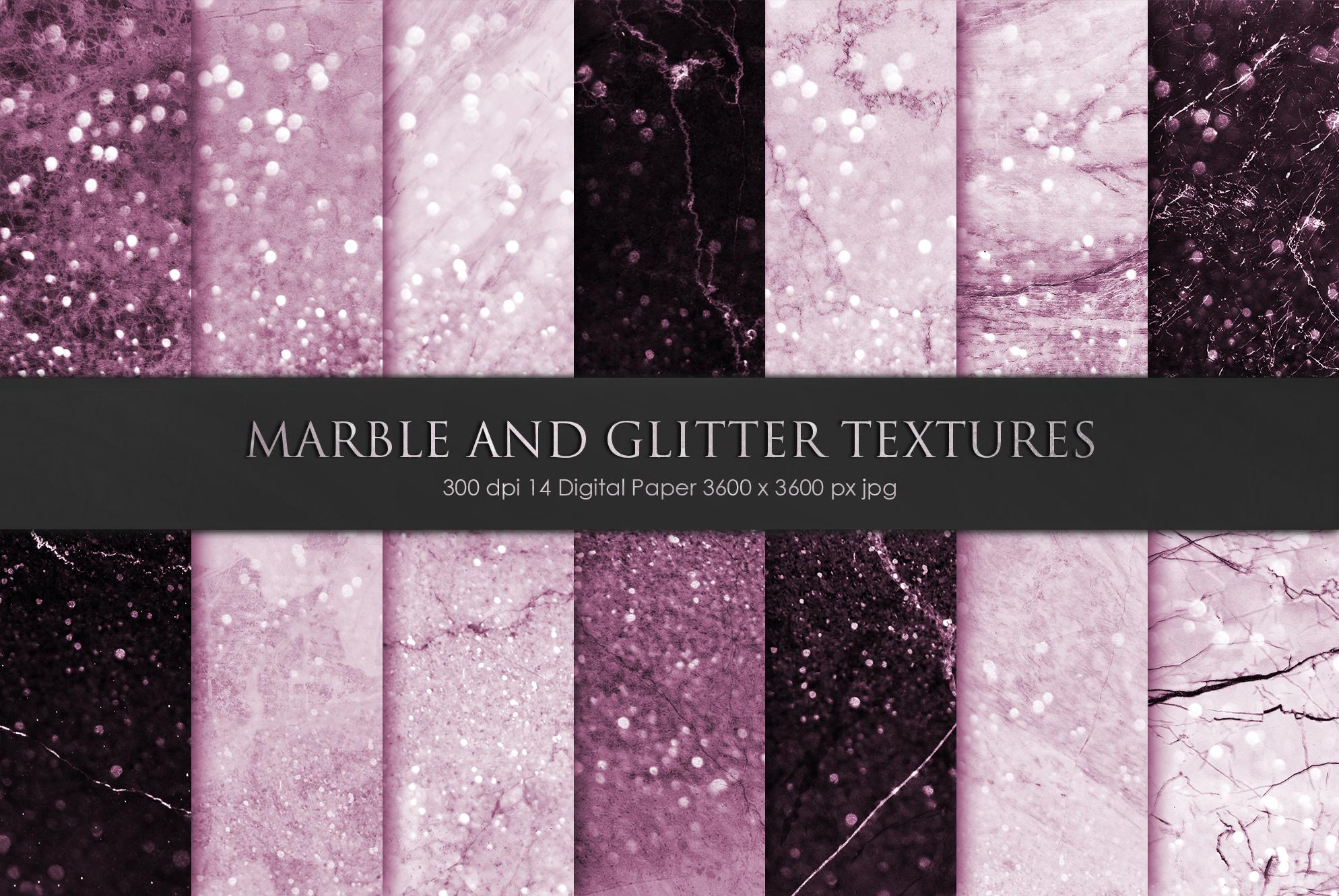 Rose Marble Digital Paper BUNDLE example image 12