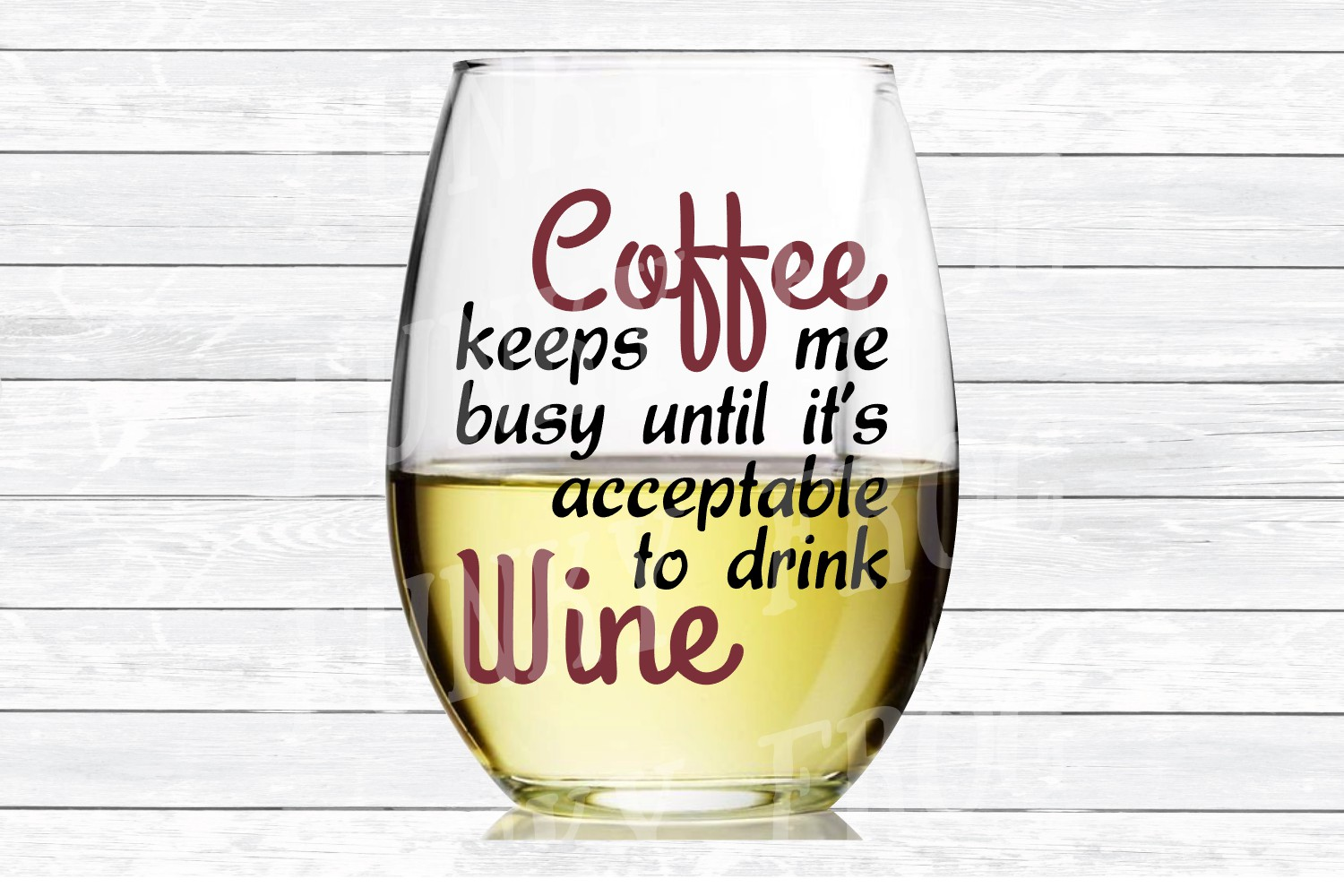 Coffee Keeps Me Busy Until It's Acceptable To Drink Wine SVG example image 3