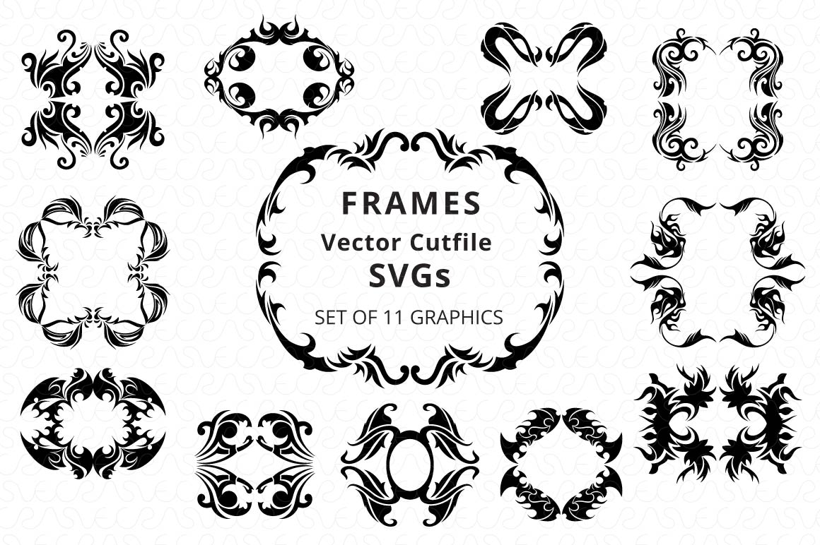 SVG Cutfiles Bundle-1 with 200 Unique Shapes example image 18