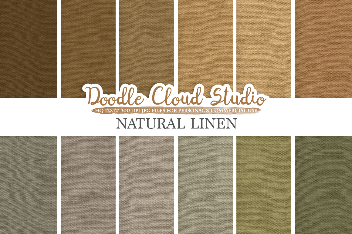 Natural Linen Fabric digital paper pack, Solid Backgrounds, Linen burlap jute vintage texture, Instant Download, Personal & Commercial Use example image 1