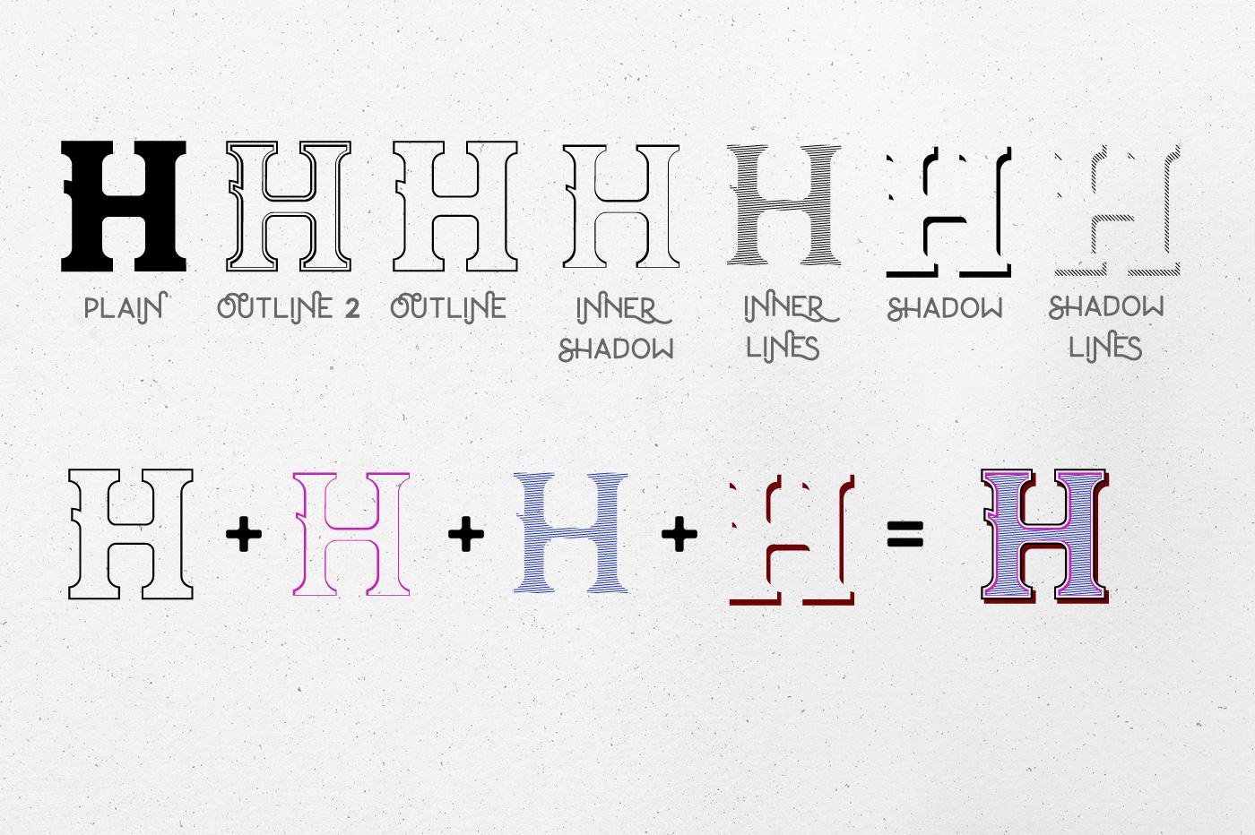Oldser Typeface + Bonus Vectors example image 4