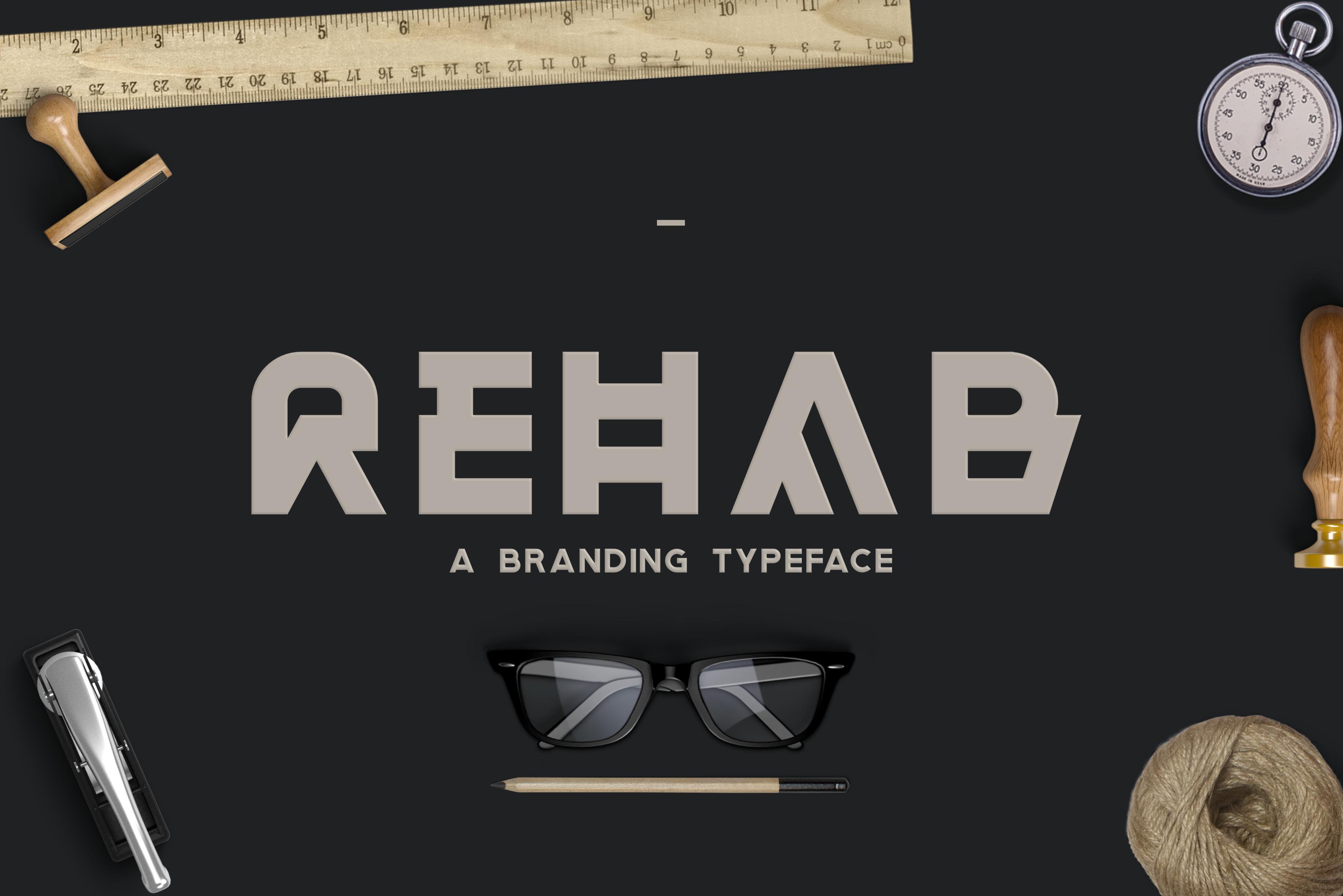 Rehab - The Display Sans Serif Font example image 1