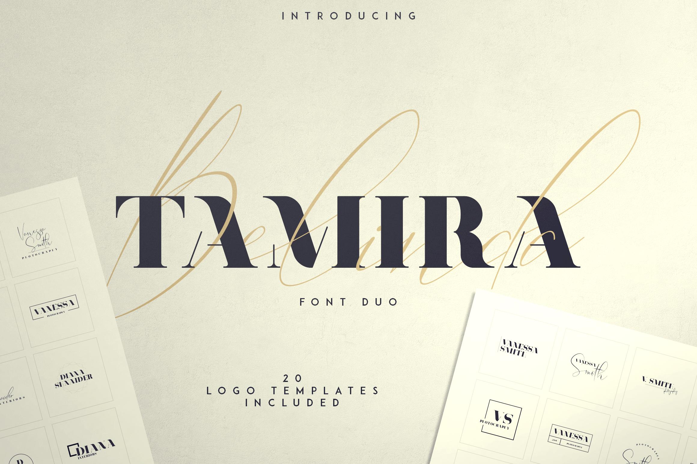 Belinda Tamira - Font duo 20 Logos example image 1
