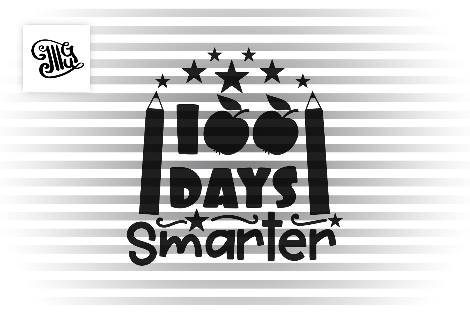 100 days smarter svg example image 2