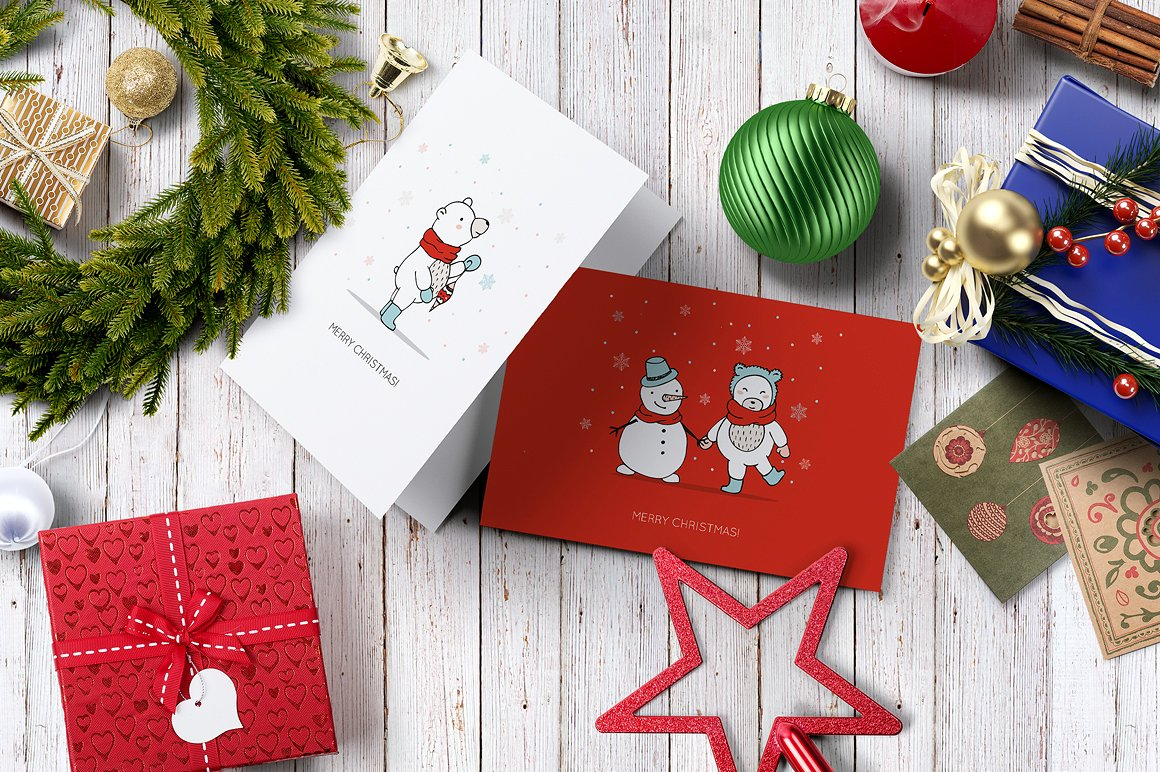 Christmas Bears Icons & Cards example image 3