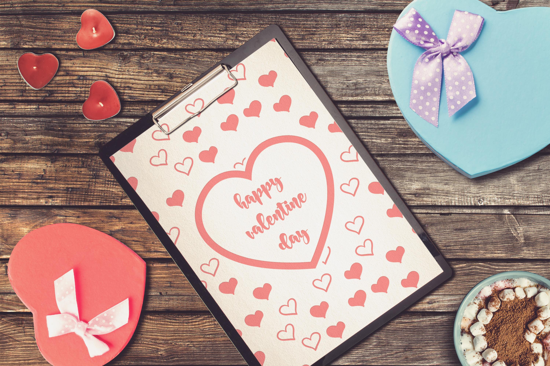 Valentine A4 Letter Mock-up #8 example image 1