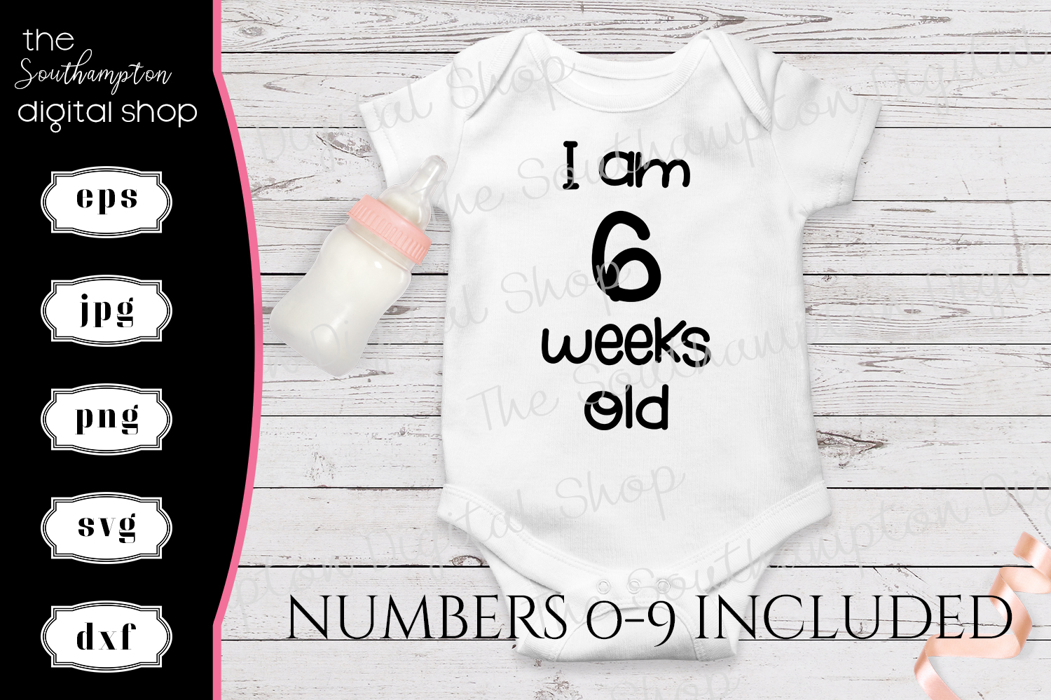 I am Weeks Old All Numbers Included example image 1