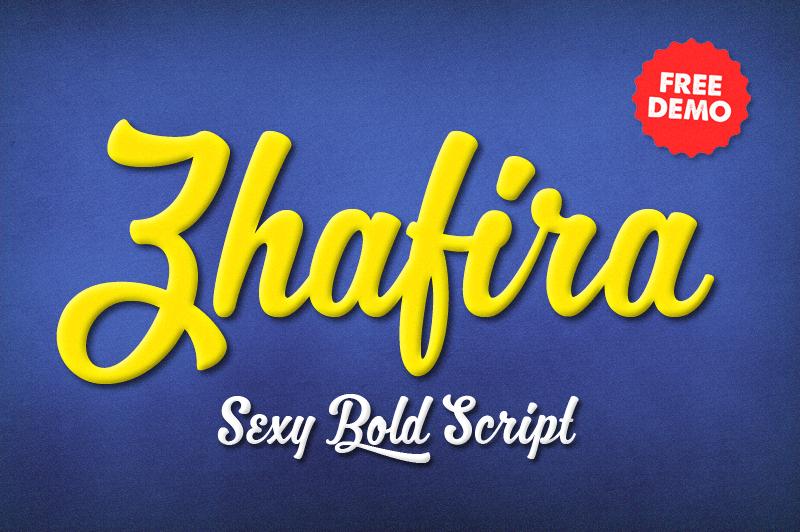 Zhafira Script example image 1
