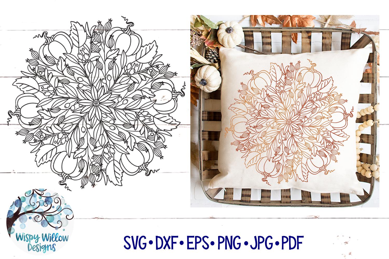 Pumpkin Mandala SVG | Fall Mandala SVG | Fall SVG example image 1