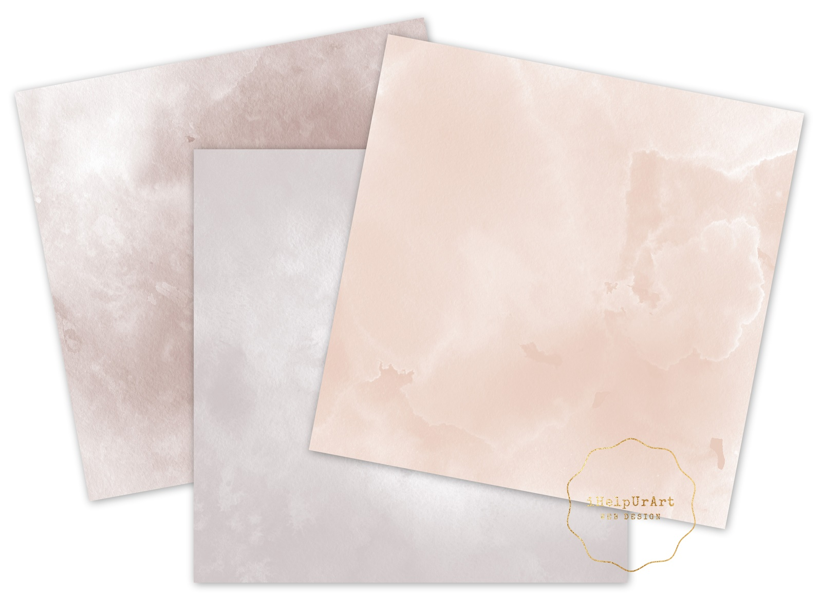 Blush Pink Watercolor Textures example image 3