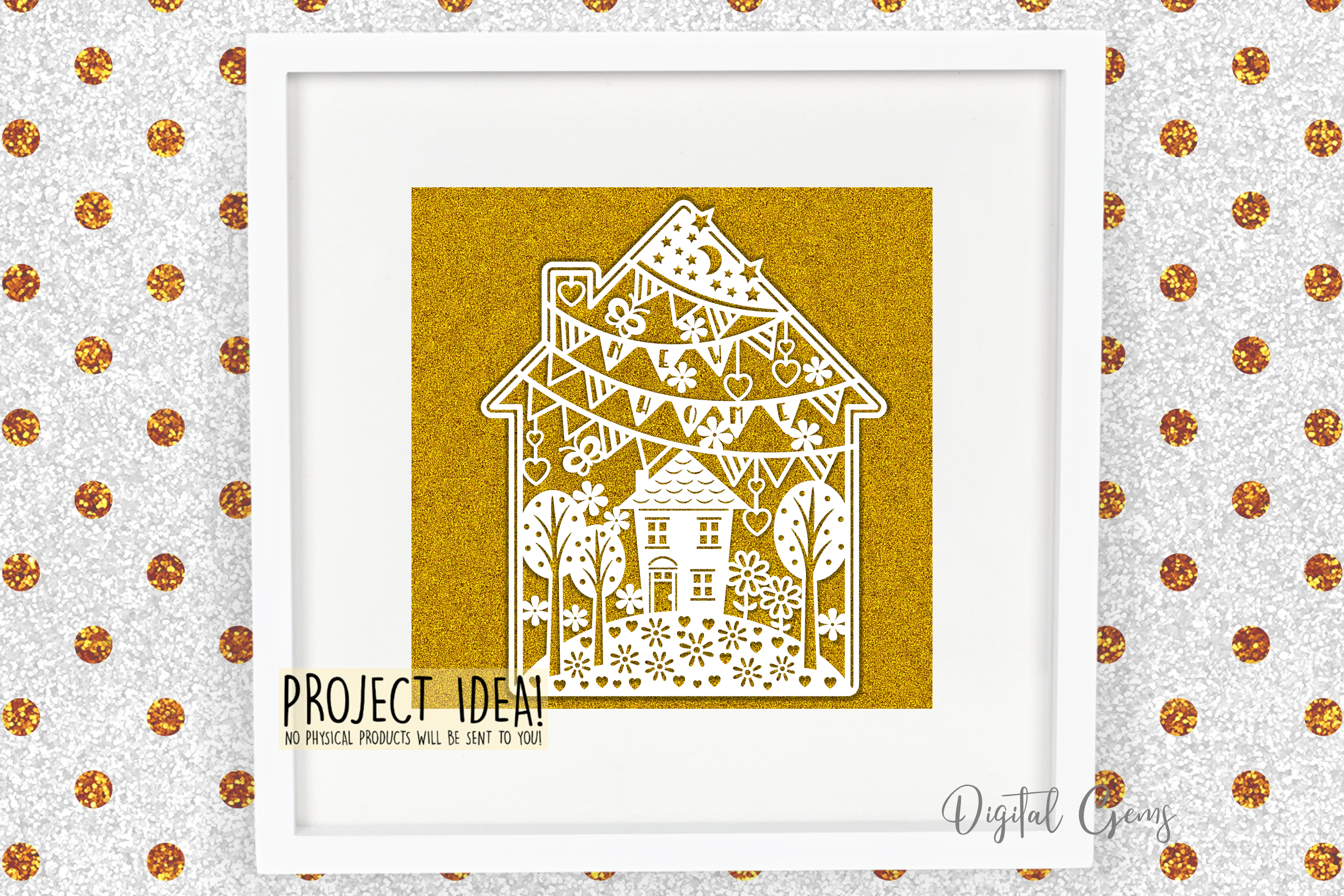 New home paper cut design. SVG / DXF / EPS / PNG example image 3