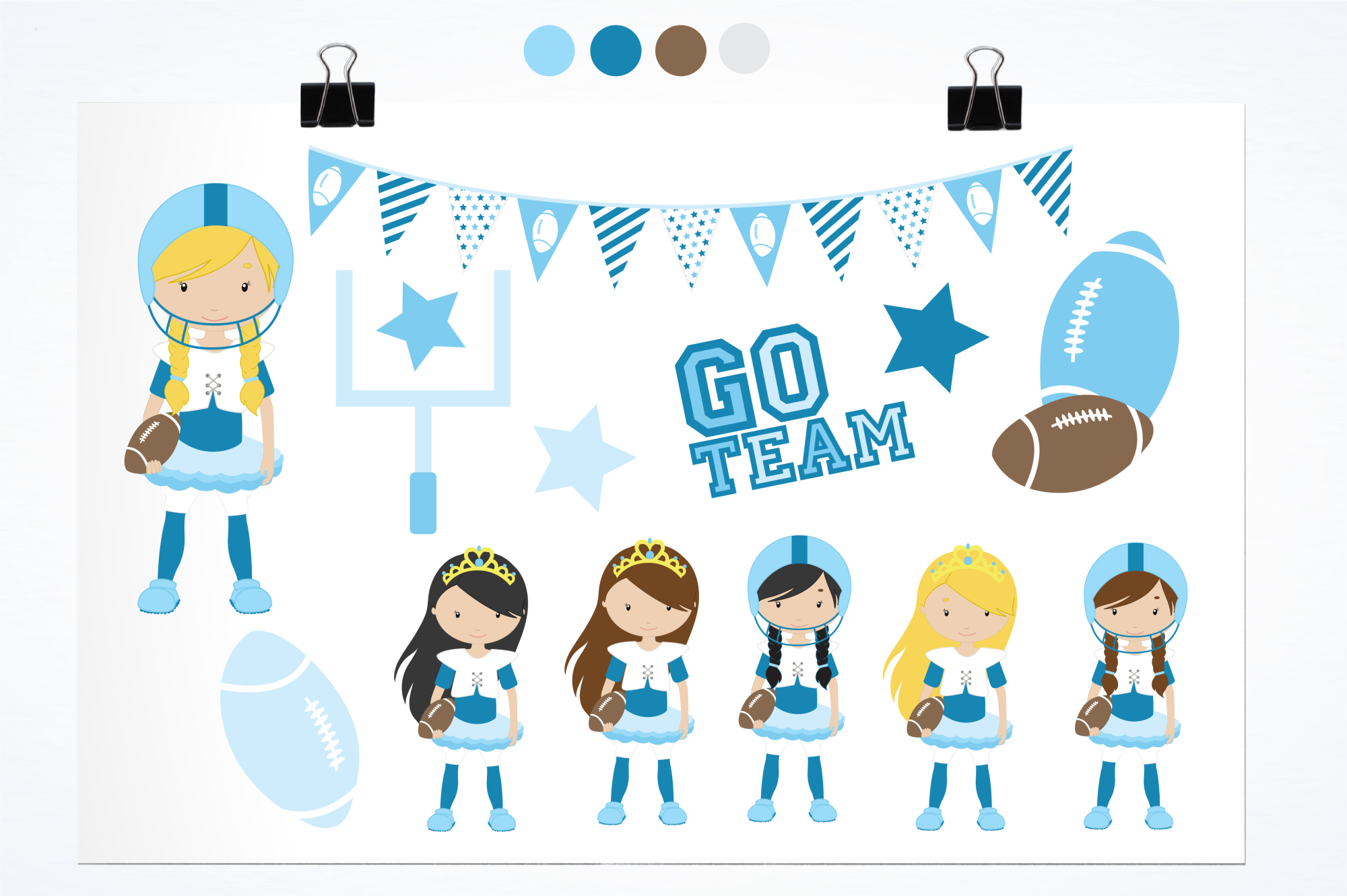 Touchdown Girls graphics and illustrations example image 2