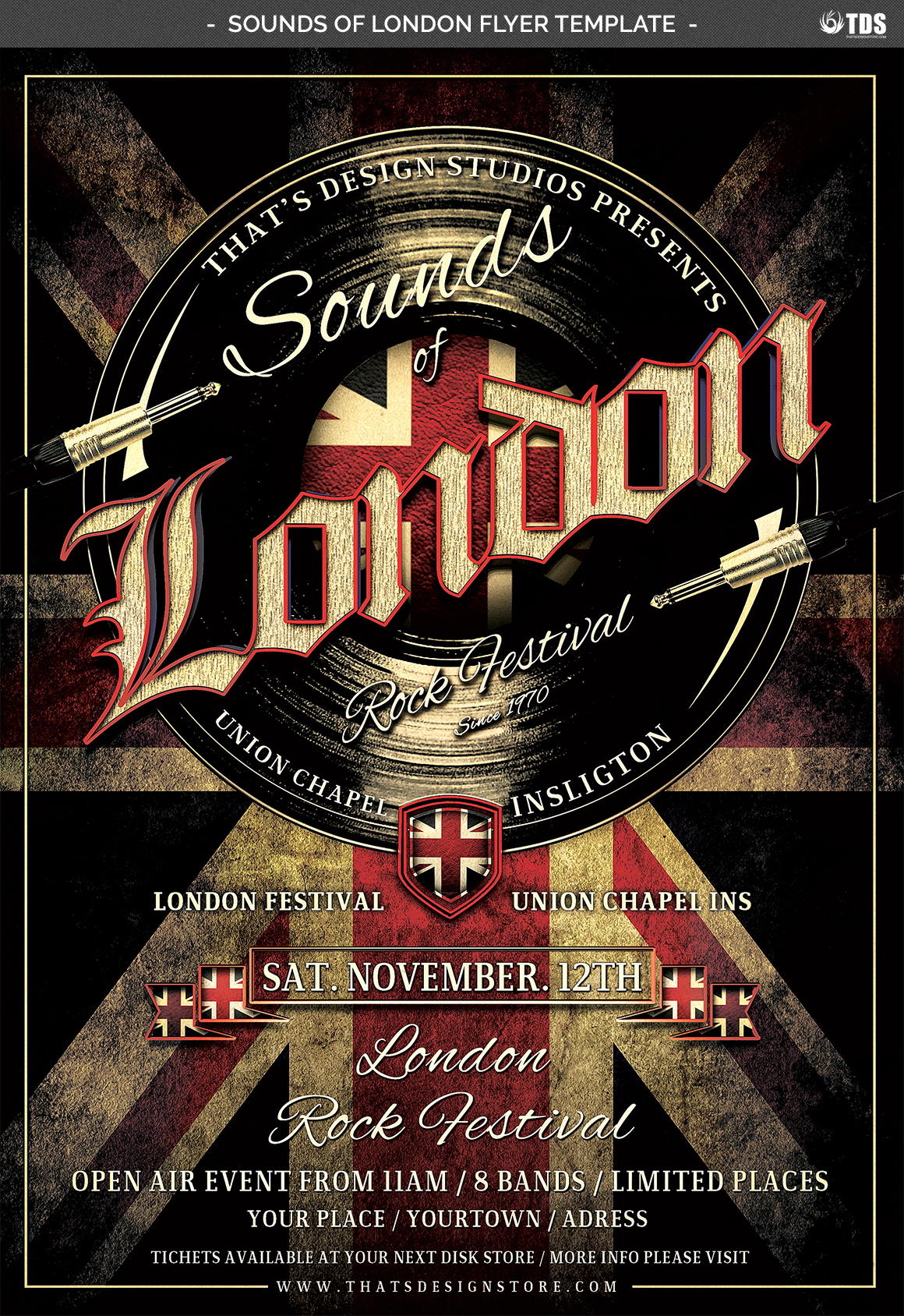 Sounds of London Flyer Template example image 2