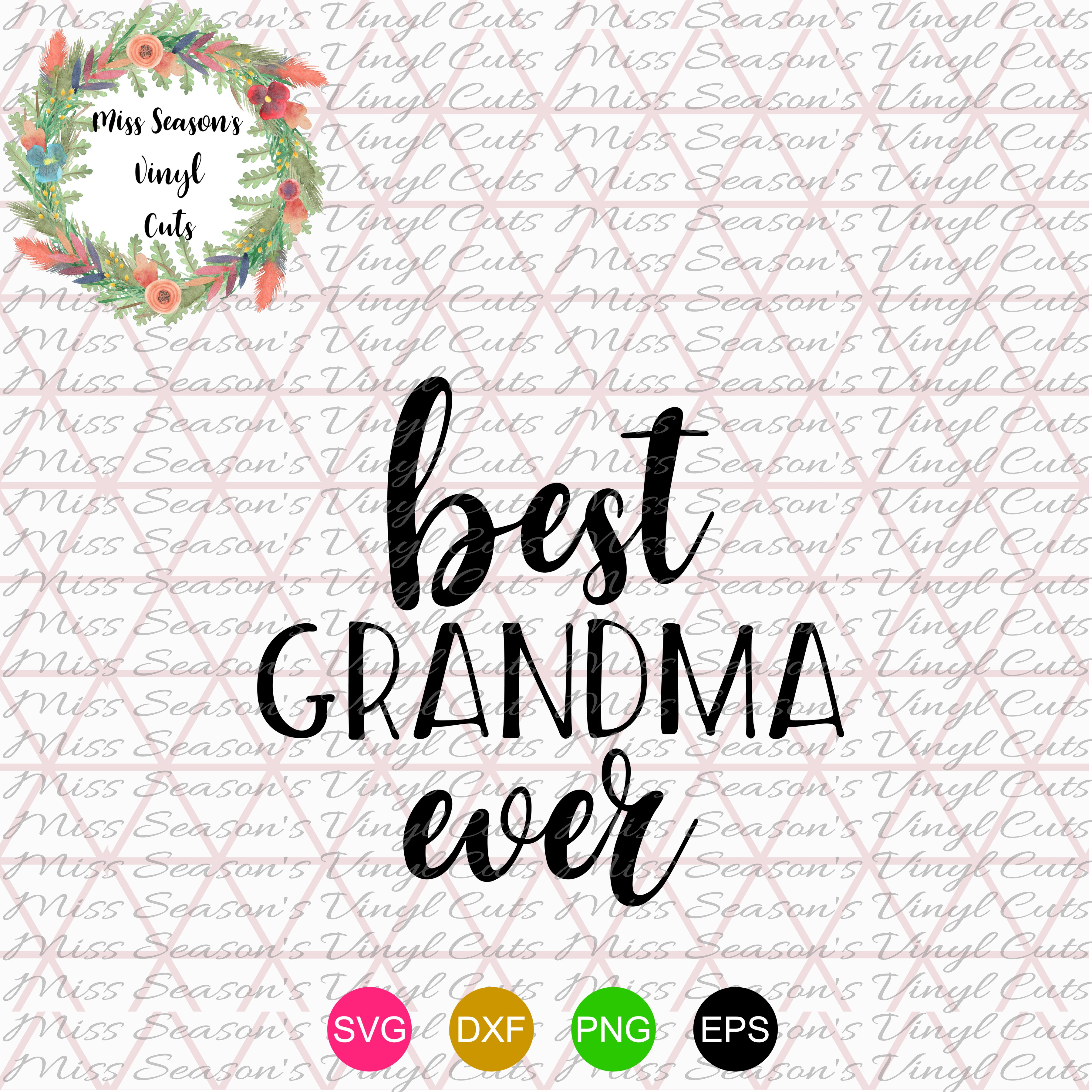 Best Grandma Ever SVG  example image 1