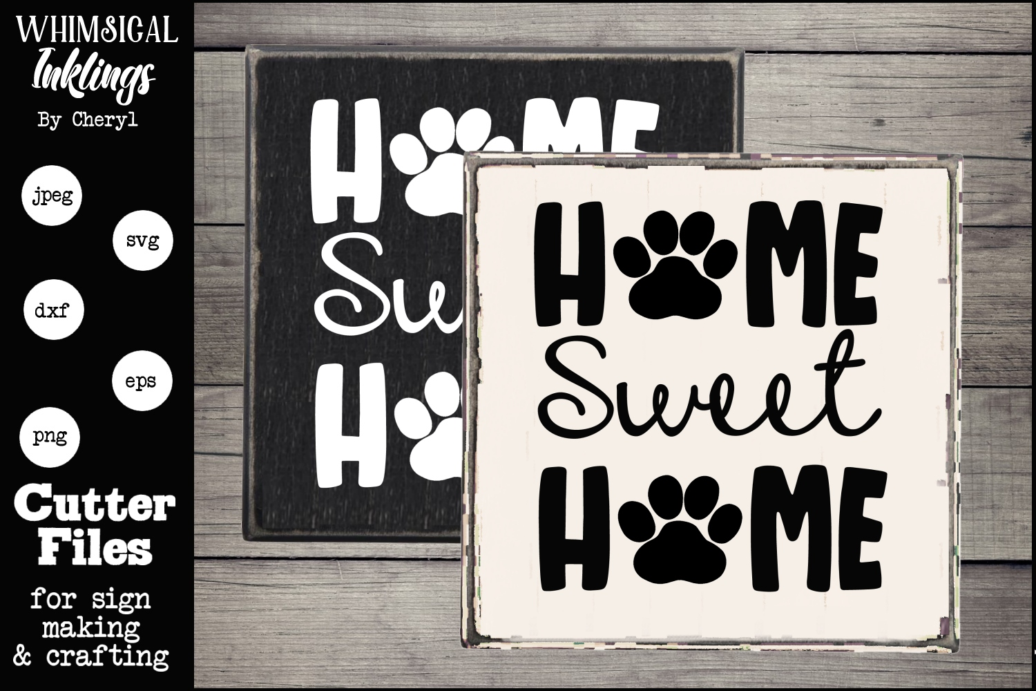 Home Sweet Home-Dog Prints SVG example image 1