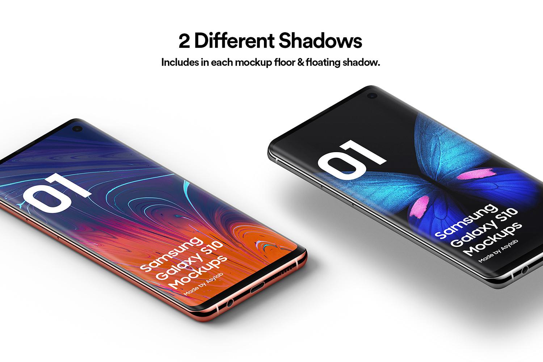 Samsung Galaxy S10 - 21 Mockups - 5K - PSD example image 5