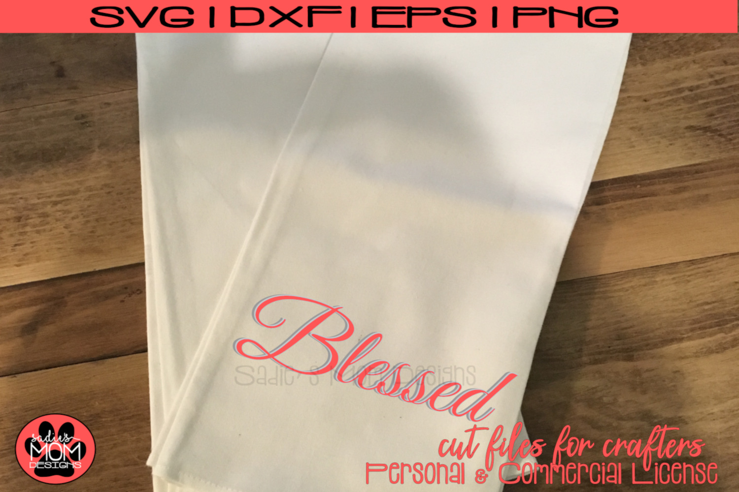 Blessed - Layered Blessed Design | SVG Cut File example image 1