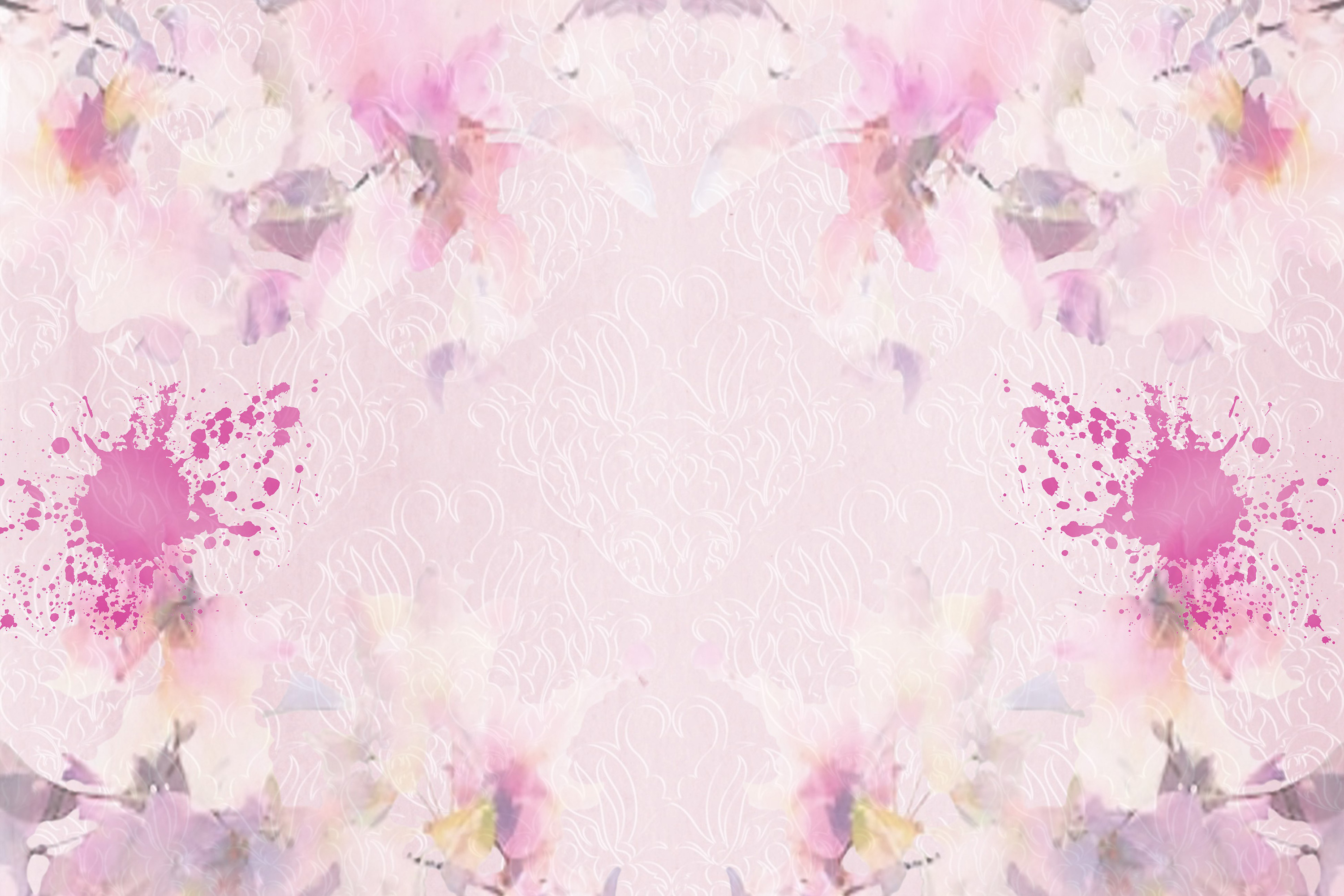 Watercolour Florals Journal Backgrounds 28 pages example image 5