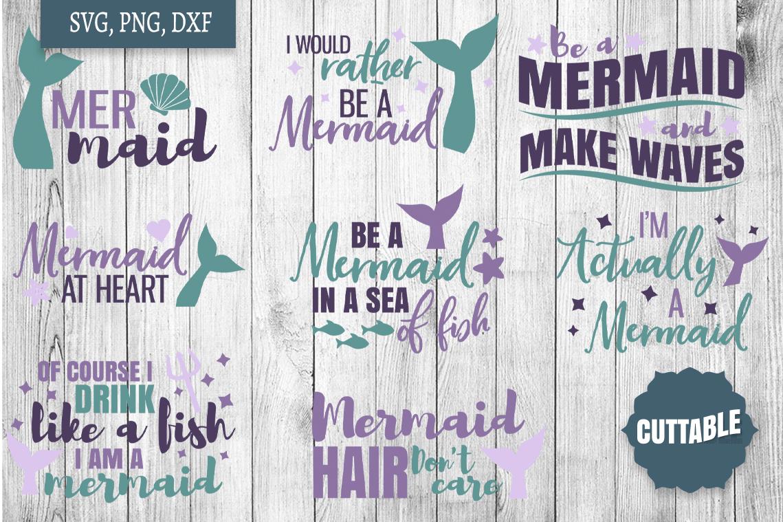 Mermaid SVG bundle, Mermaid cut file bundle, Ocean cut files example image 3