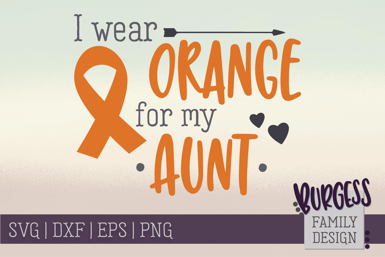 BUNDLE | I wear orange for my family | SVG DXF EPS PN example image 3