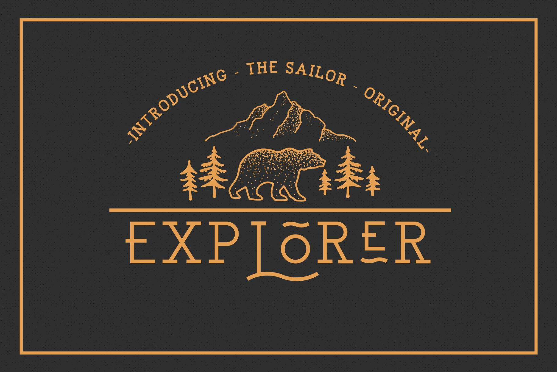 EXPLORER - Sailor Original Typeface example image 1